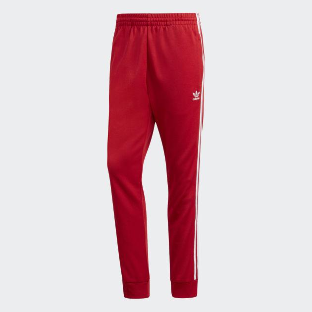 Yhdistynyt kuningaskunta järkevästi hinnoiteltu saada halvalla adidas Originals SST Track Pants Punainen - CW127