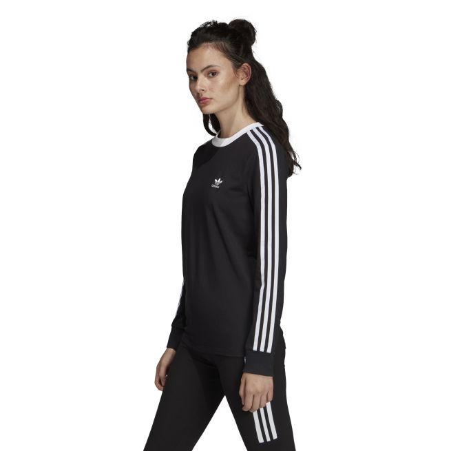 adidas Originals 3 Stripes Long Sleeve Tee W