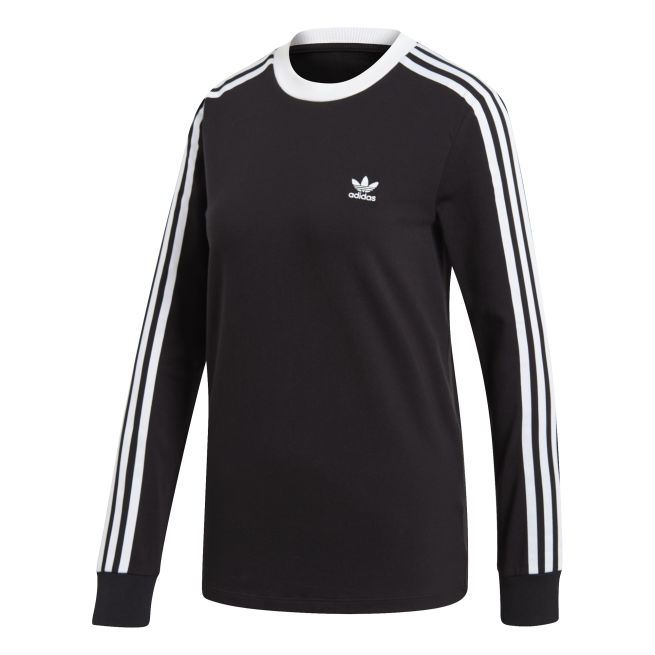 adidas Originals 3 Stripes Long Sleeve Tee W