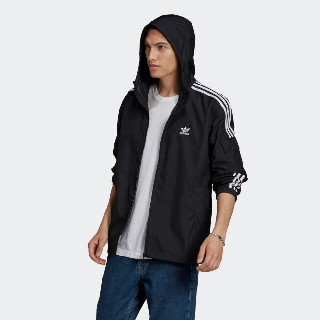 adidas Originals 3-Stripes Windbreaker Full Zip