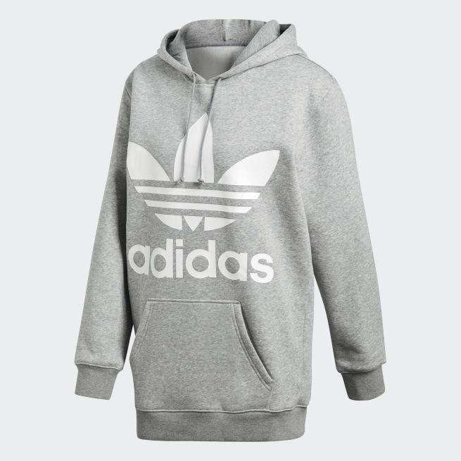 adidas Originals Boyfriend trefoil hoodie Harmaa - FIV46 - The ... 6a2c726315