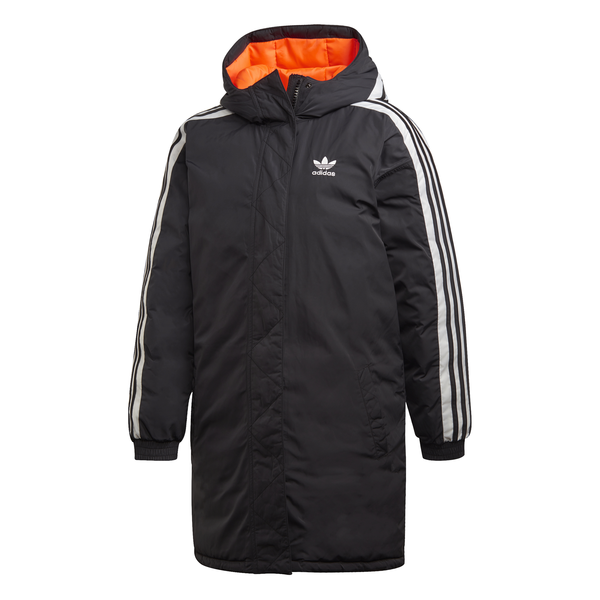 adidas Originals Long Synthetic Down Jacket Musta GDG94