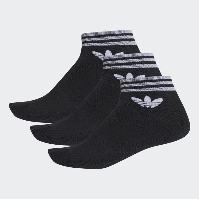 adidas Originals Trefoil Stripe Ankle Sock 3par