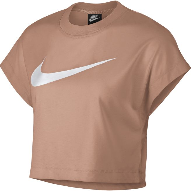 Nike Swoosh Short-Sleeve Crop Top W