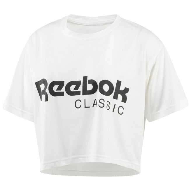 Reebok Cropped Graphic Tee W