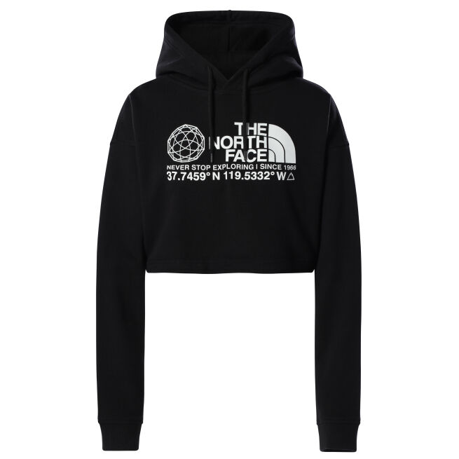 The North Face Coordinates Crop Drop Hoodie W
