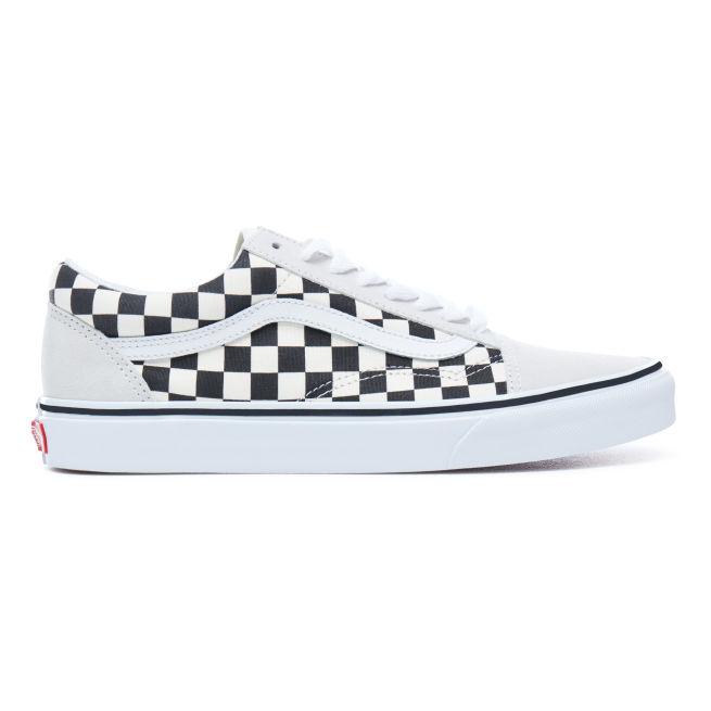 Vans Checkerboard Old Skool Valkoinen - VA38G127K - The Athlete s Foot 495299fbb1